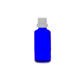 50ml blue glass bottle
