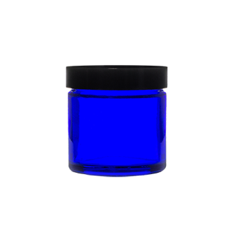 60ml blue glass jar