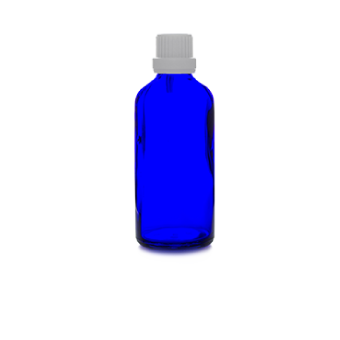 100ml blue glass bottle