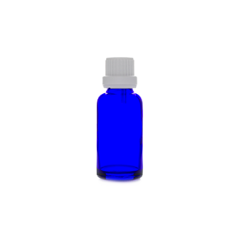 30ml blue glass bottle